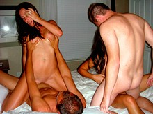 Threesome porn and sex party videos with hungry students in the group sex category at our free XXX tube