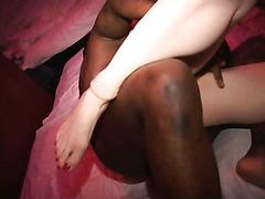 White cuck sucks Black cock lets dude fuck his redhead wife