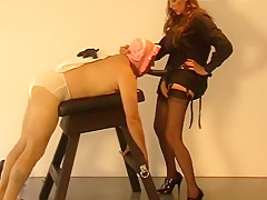 Horny Amateur Shemale video with Femdom, Fetish scenes