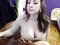 Busty webcam masturbation show