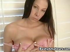 Busty Gianna masturbates after interview