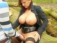 Incredible amateur Outdoor, Cumshot sex movie