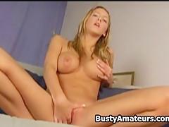 Busty Ryana on hot masturbation