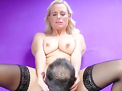 Crazy homemade Big Tits, Stockings adult video