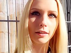 Crazy amateur Blonde, POV sex video