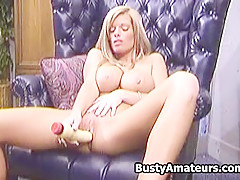 Busty amateur Tera masturbating with her favorite toy
