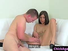 european female agent pussylicked at audition