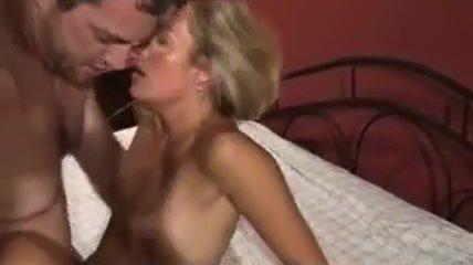 Couple fucks passed out milf