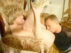 Hottest homemade Cunnilingus, Mature adult clip