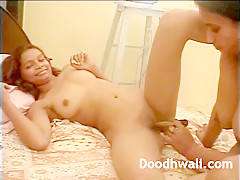 Indian Teen Pussy Fucked By Big Silver Dildo
