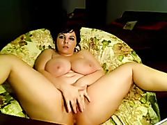 chubby chick with big tits on webcam