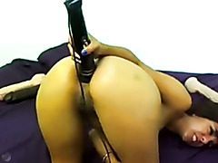 Latina Takes Big Dildos