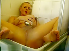 Lusty Blonde Naughty In The Shower