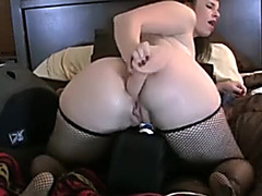 PAWG Copulates Her Large White Butt Whilst Using Sex Tool