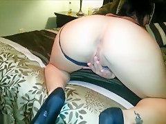 Cock Shaped Dildo Gets Used