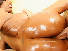 This Buxom Black Beauty Drains A Stiff Asian Cock - RealBlackExposed