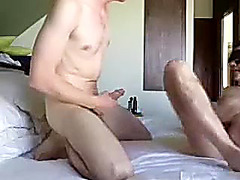 Sweet homosexual is relaxing within doors and shooting himself on web camera