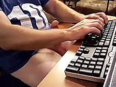 Alluring boy is jerking off at home and memorializing himself on web camera
