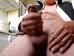 Juicy dude is having a good time in the bedroom and shooting himself on web cam