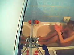 Caught my mother i'd like to fuck wifey on hidden web camera in the bathroom