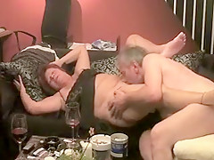 Sweetheart Feeds Out His Friends Pussy