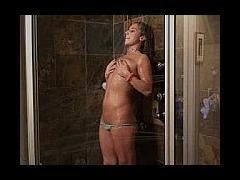 Kathi showering and posing