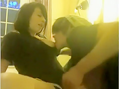 So Pretty Emo Brunette Girlfriend Make Sex Fun Front Her Webcam And Share