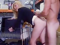 Milf Hottie Sucks Big Cock At Pawnshops Storage Room