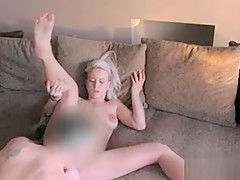 Busty Brit blonde banged pov on casting