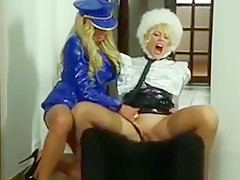 Clothed euro hallway sex threesome