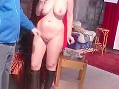 Fresh 24yo newbie shows her big boobs at the CASTING