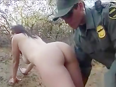 Border patrol agent fucked sexy latina on top of his dick