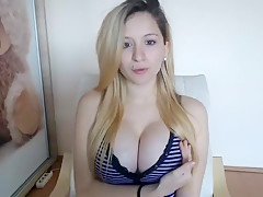 Lovely Blonde With Tight Pussy Masturbate Solo Part 04