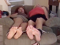Renee and Bianca Tickled