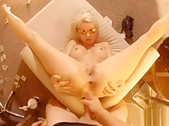 TRIPLE COCKS FOR HOT BLONDE TAKES 3 11 inch DICKS