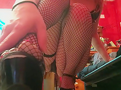 Redjhead Teen Teases You With Her Sexy Heels, Fishnets and Painted Toes