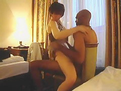 White wife having a good time with her black lover