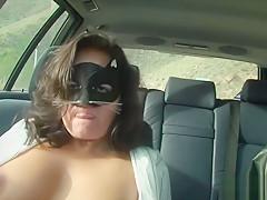 Car Masturbation On Public Road