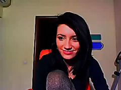 Petite teen dancer strips on webcam