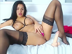 Indian Teen In Stockings Masturbates On Live Webcam