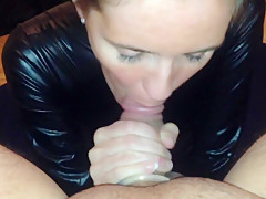 MY WIFE RIMMING EAT TONGUE DEEP TIGHT MY HOLE WITH BLOWJOB