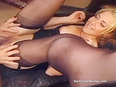 Black cock goes deep in redheads asshole