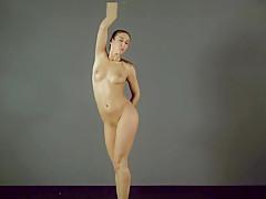 Brunette gymnast showing of her ass