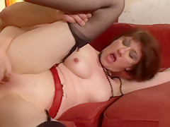 Horny french mature mom hard analyzed with cum to mouth