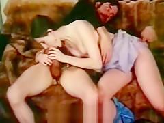Big Long Cock Fucks a Brunette's Cunt (1970s Vintage)
