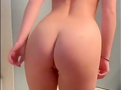 Stripping for my bf and deepthroating his cock in my family's house