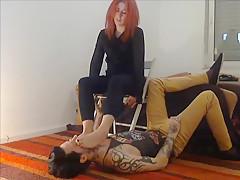 Redhead foot worship