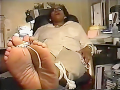 Mature latina Tickled feet