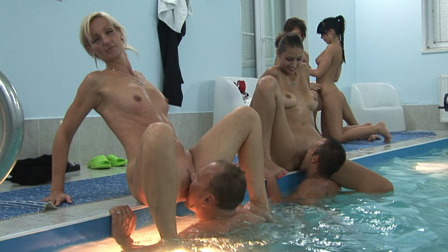 Amature housewives lick each other