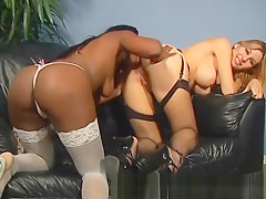 Busty Lesbian Black and White Bitches part3